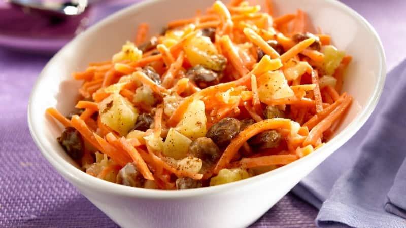 Ensalada Tropical De Pina Y Zanahoria