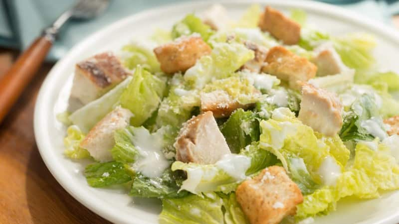 Creamy Caesar Salad with Chicken