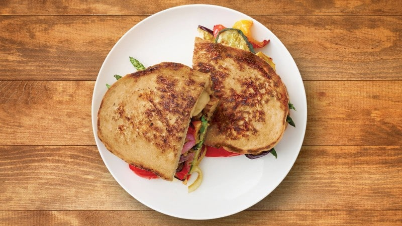 Perfectly Crispy Grilled Cheese & Veggie Recipe