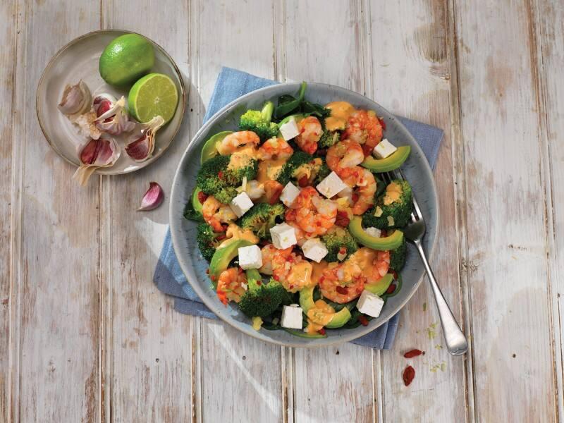 Tiger Prawn Salad with Veggies