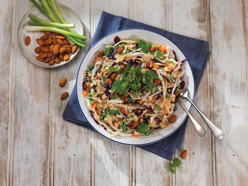 Crunchy Cabbage & Carrot Quinoa Salad