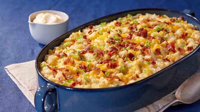 Rich & Creamy Loaded Mashed Cauliflower