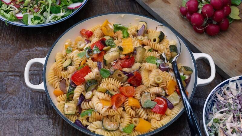 Hellmann's - Pasta Salat mit Röstgemüse