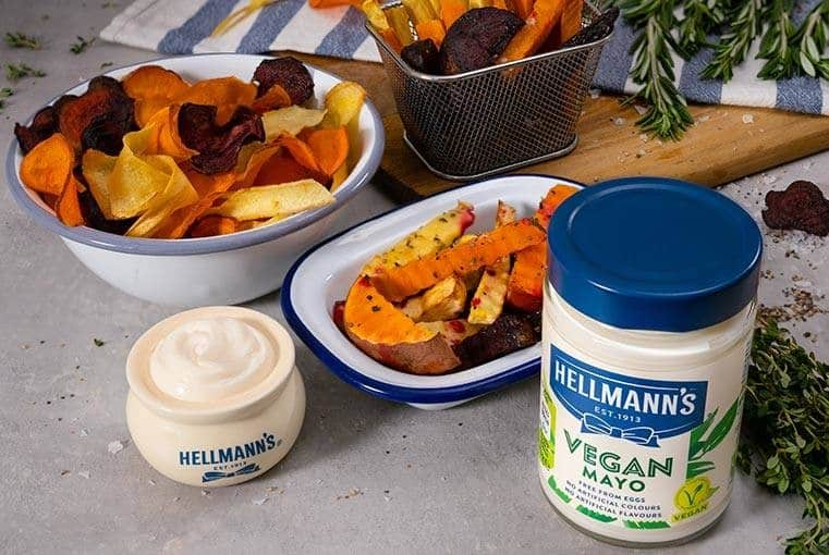 Rainbow Chips with Hellmann's Vegan Mayonnaise