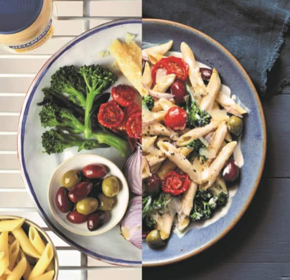 Pasta Cremosa con Verduras