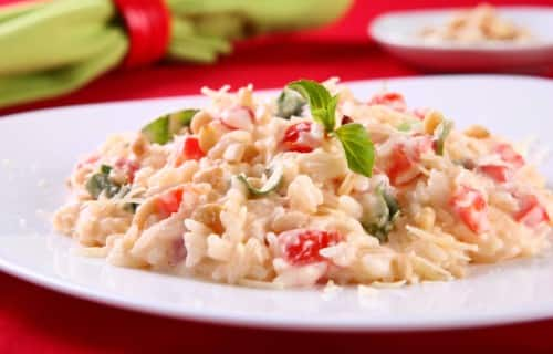 Arroz Cremoso Italiano con Tomate y Parmesano