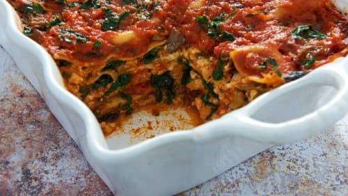 Vegan Lasagna with Veggie Sauce