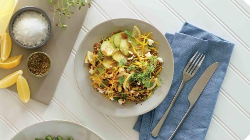 Golden Beet Quinoa Bowl with Mint