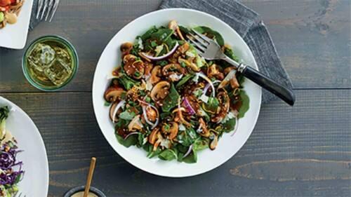 Sesame Thai  Mushroom Salad
