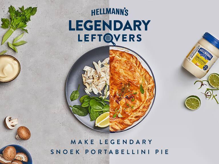 Snoek and Portabellini Mushroom Pie