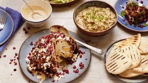 Cauliflower Shawarma and Baba Ganoush