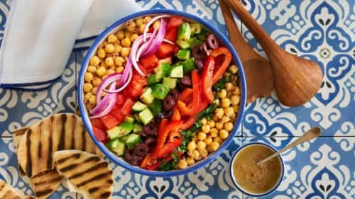 Mediterranean Chopped Salad with Chickpeas