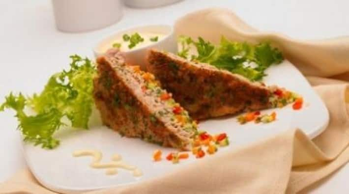 Pastelito de pavo y verduras