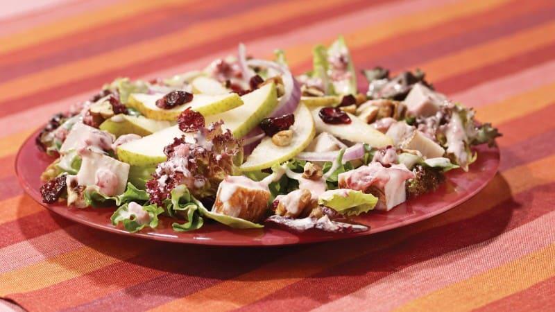 Blushing Cranberry, Pear & Turkey Salad
