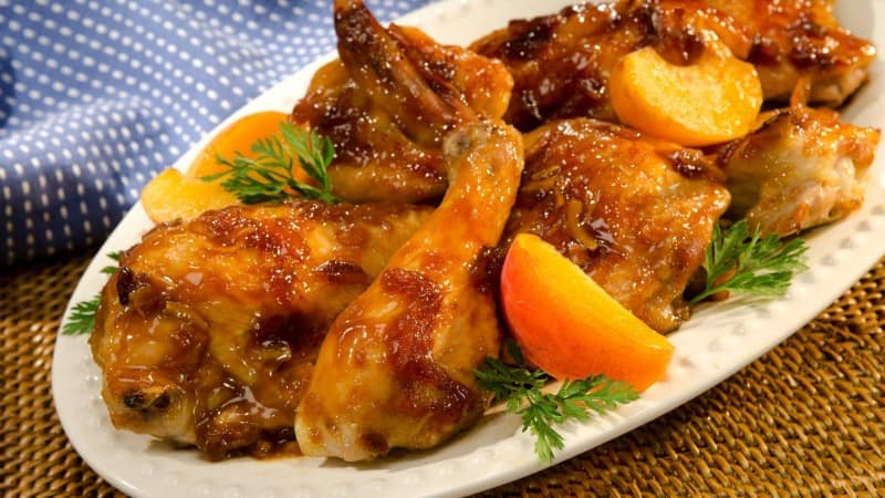 Apricot-Glazed Chicken