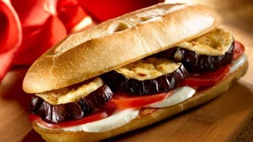 Eggplant Sandwiches with Parmesan