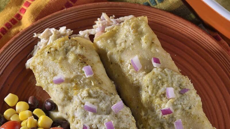 Creamy Enchiladas Verdes
