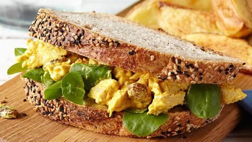 Sándwich de Pollo al Curry