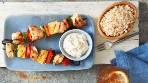 Cilantro-Lime  Pineapple Chicken Skewers