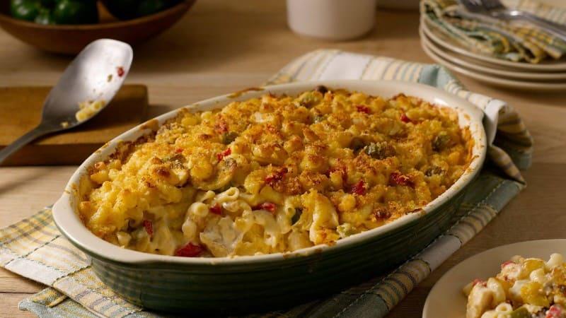 Cazuela de macarrones y pollo
