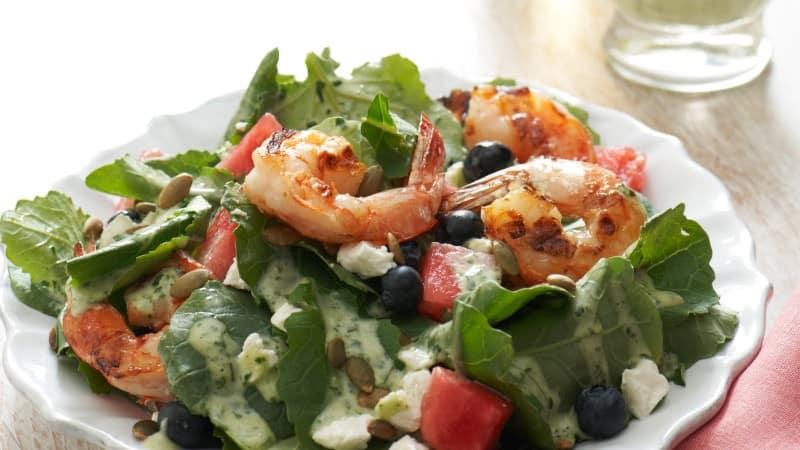 Summer Salad with Creamy Basil Vinaigrette