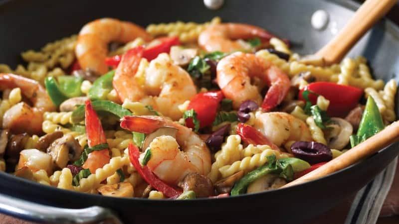Creamy Mediterranean Shrimp Pasta